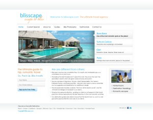 Blisscape HomePage UI Design