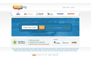 ClickInsure.com Hpmepage UI Design