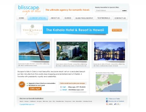 Blisscape.com InsidePage Special Offers Page UI