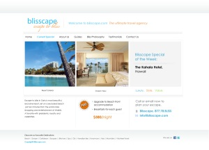 Blisscape.com InsidePage SpecialOffer page design