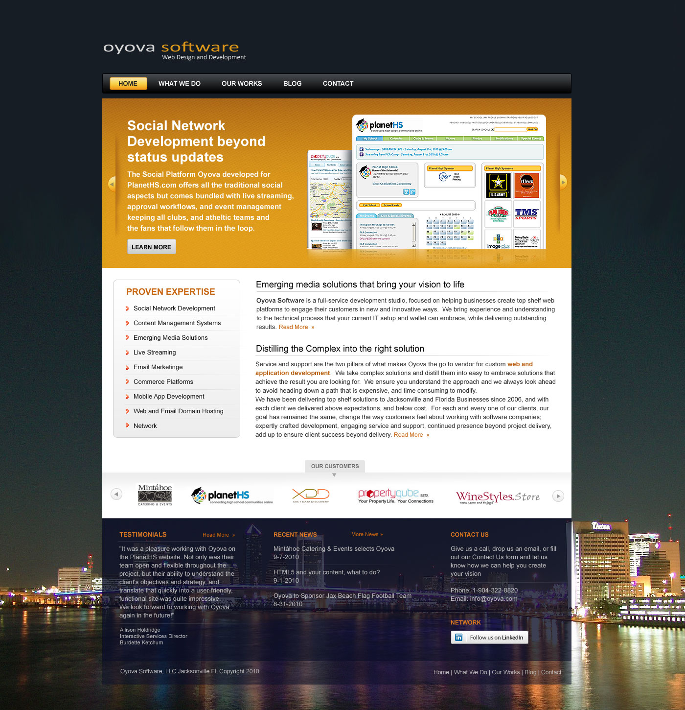 oyova software llc home page design ideaflick