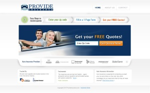 Provide-Insurance-LandingPage-UI