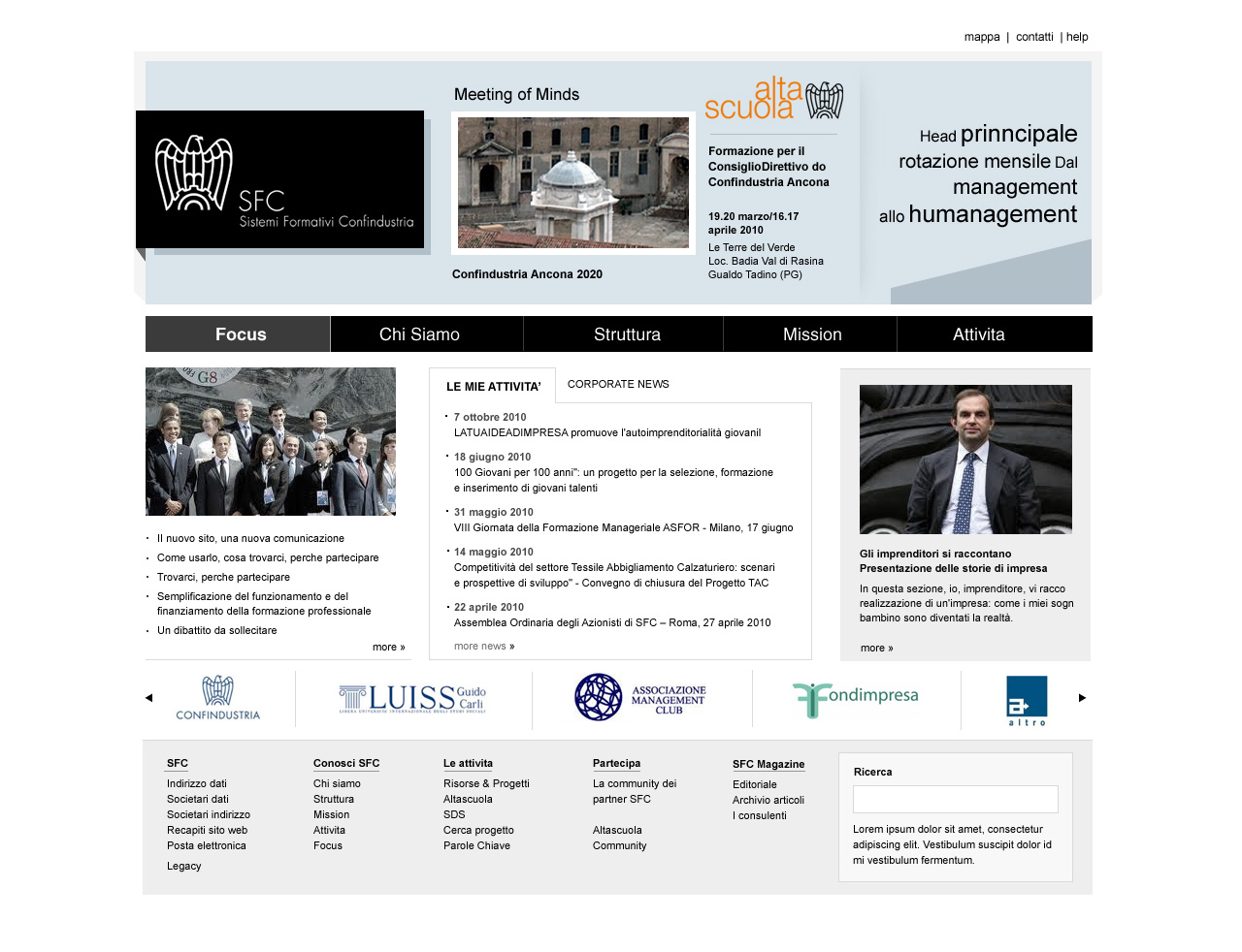 SFC HomePage UI Design