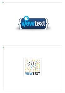 ViewText logo design