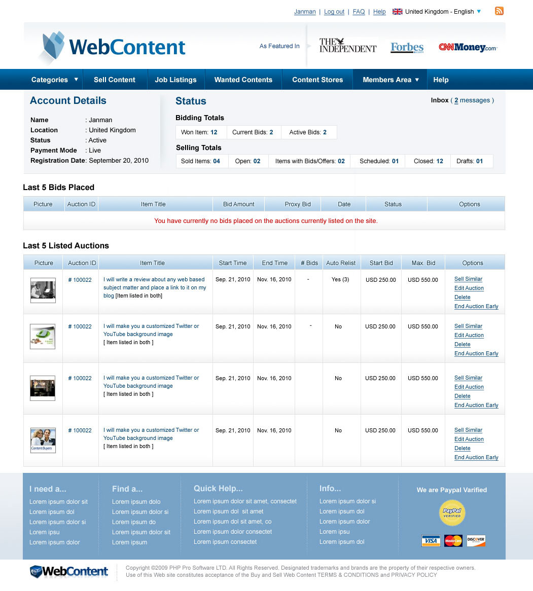 WebContent-Members-Page UI Design