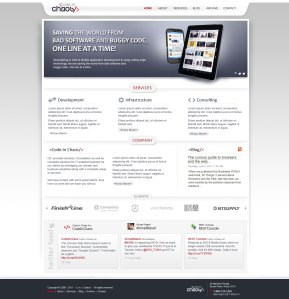 Codeinchaos Home Page UI Design