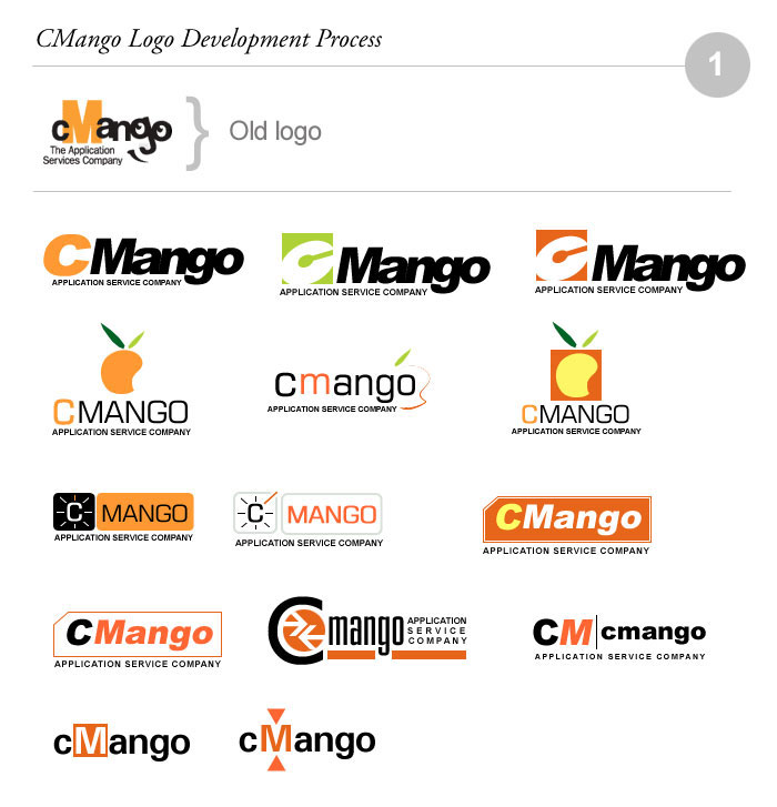 cMango Logo Design Process 01