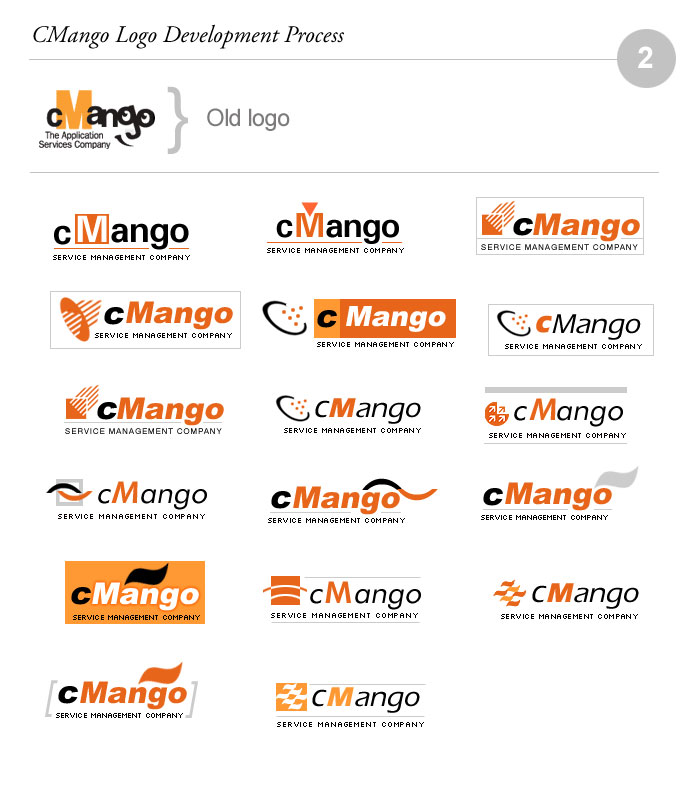 cMango Logo Design Process 02