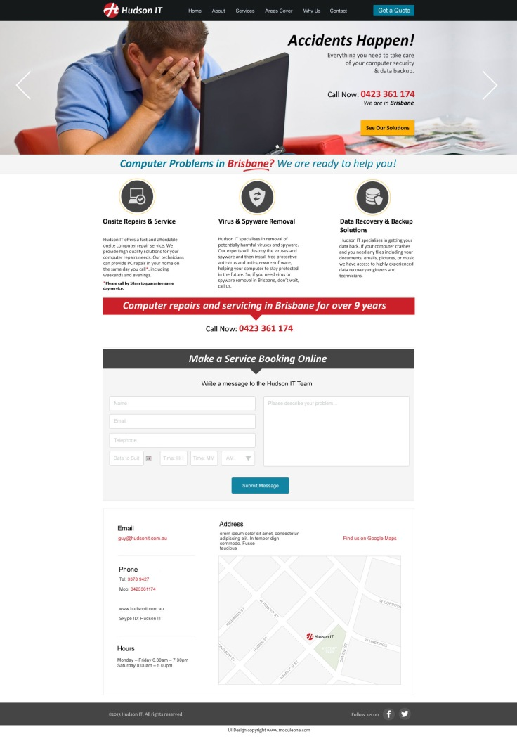 IT company UI design