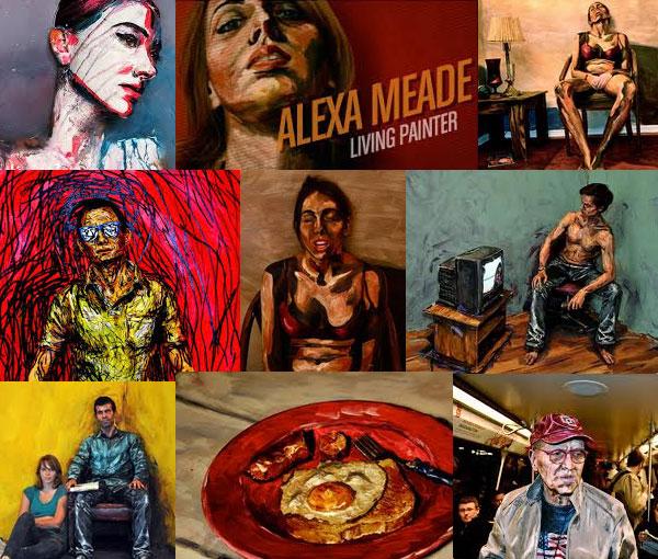 Alexa Meade's art work