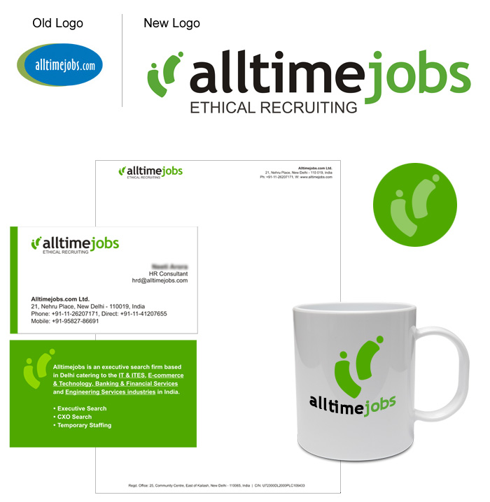 Alltimejobs Logo Design