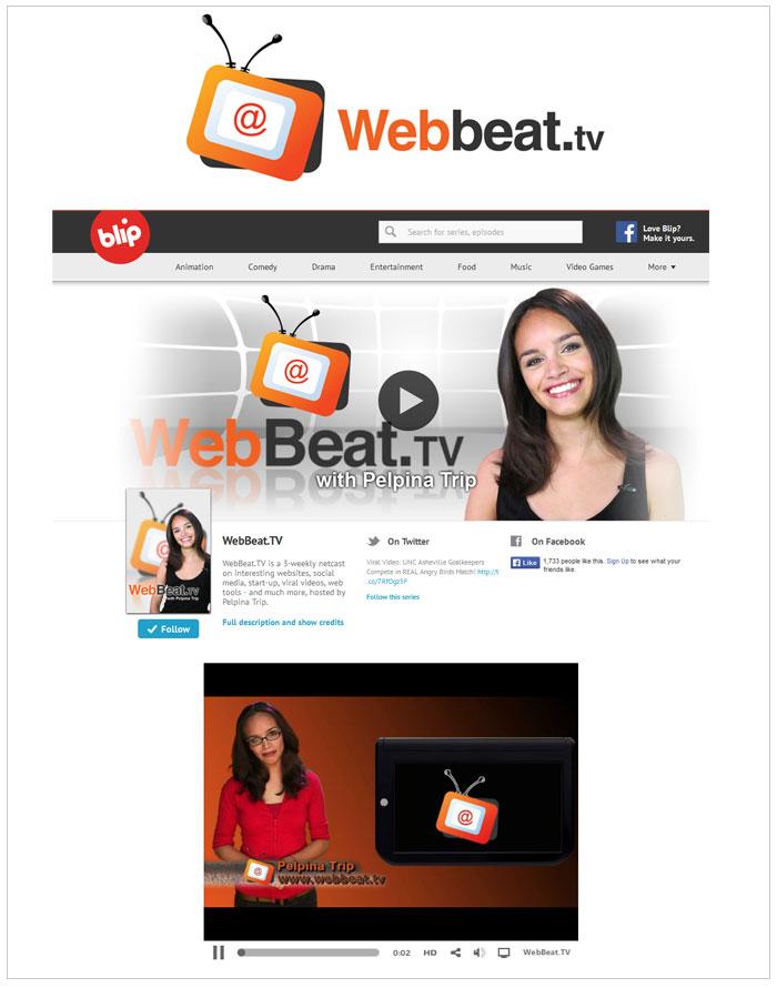 Logo design for webbeat.tv