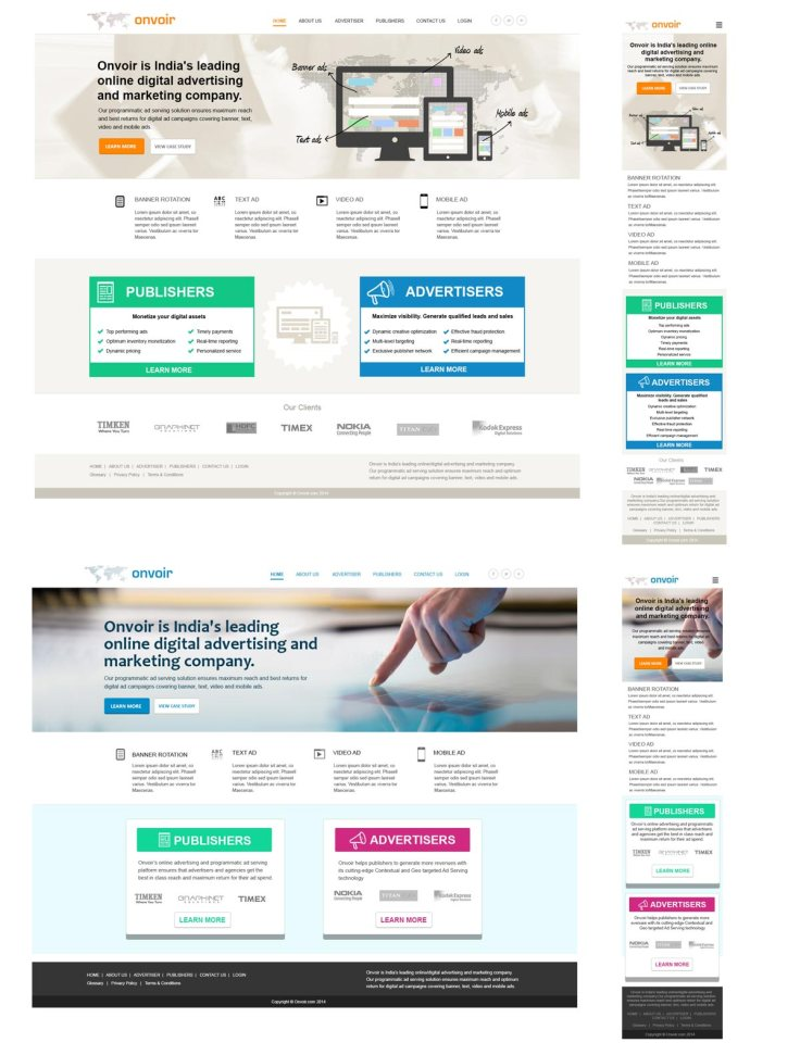Responsive digital ad company website