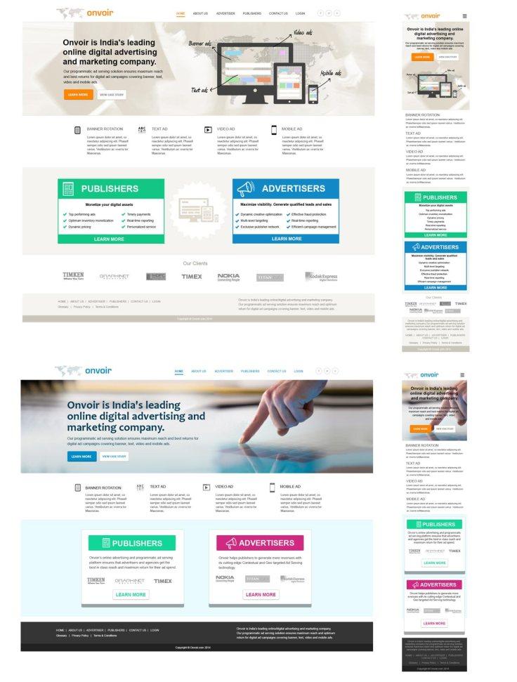 Responsive digital ad company website