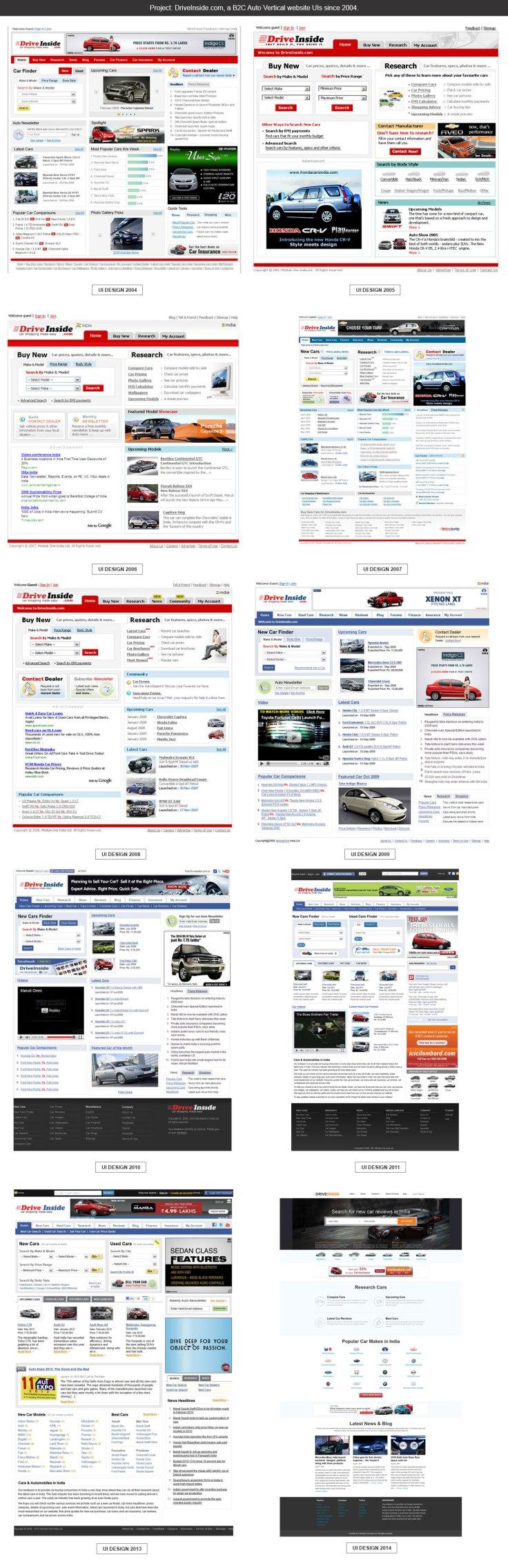 DriveInside.com UI design