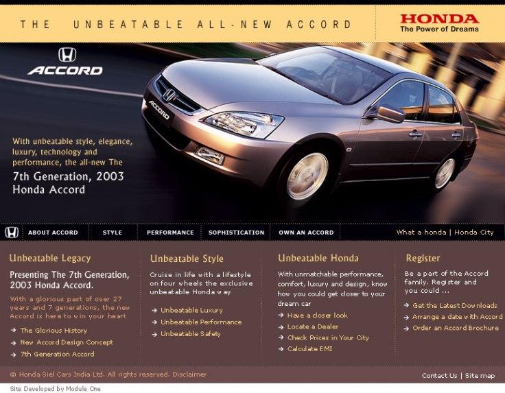 Honda-Accord Landing Page UI