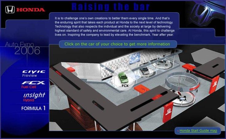 Honda-AutoExpo2006 Website UI