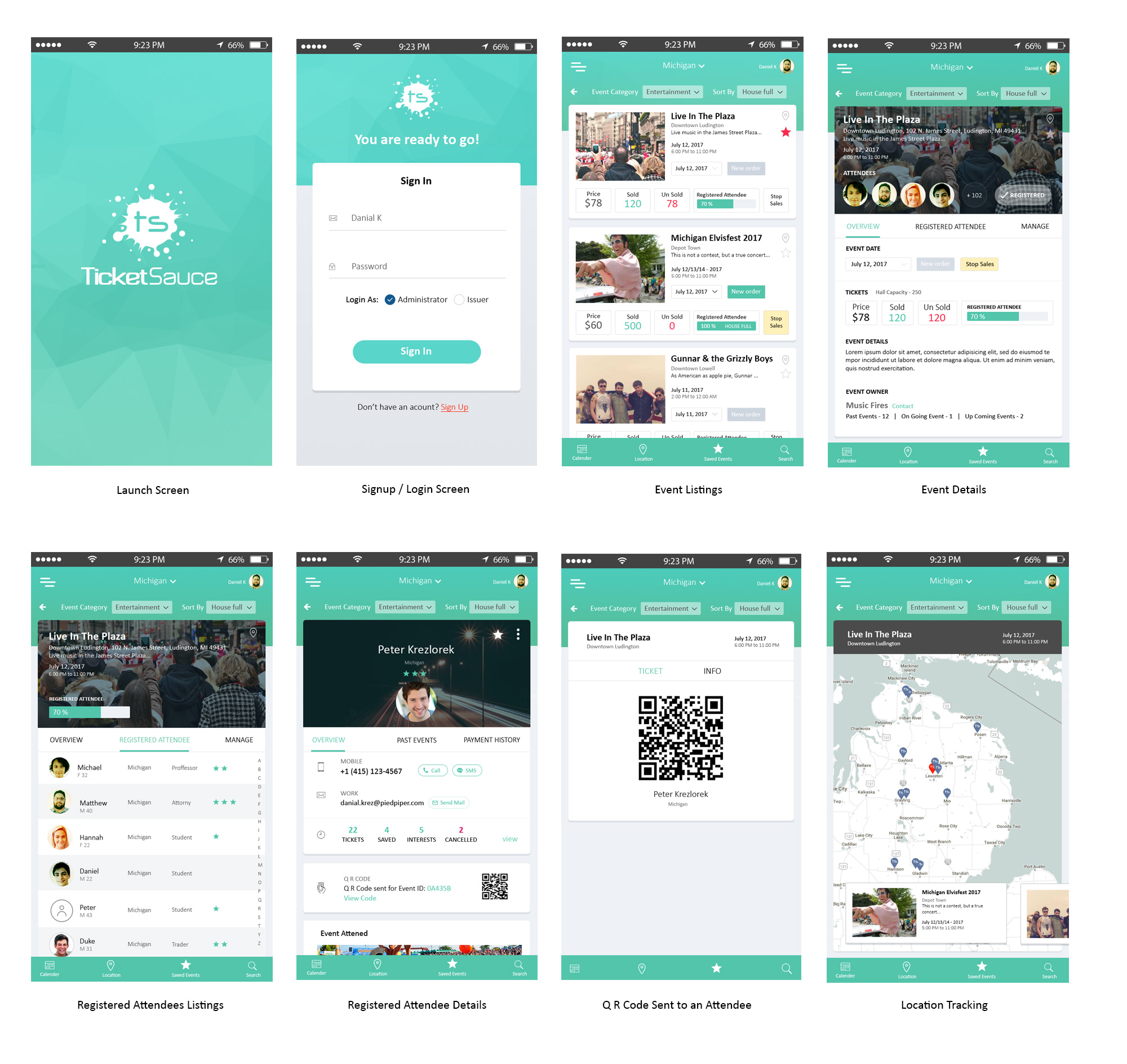 Event Management App User Interface Design – Ideaflick