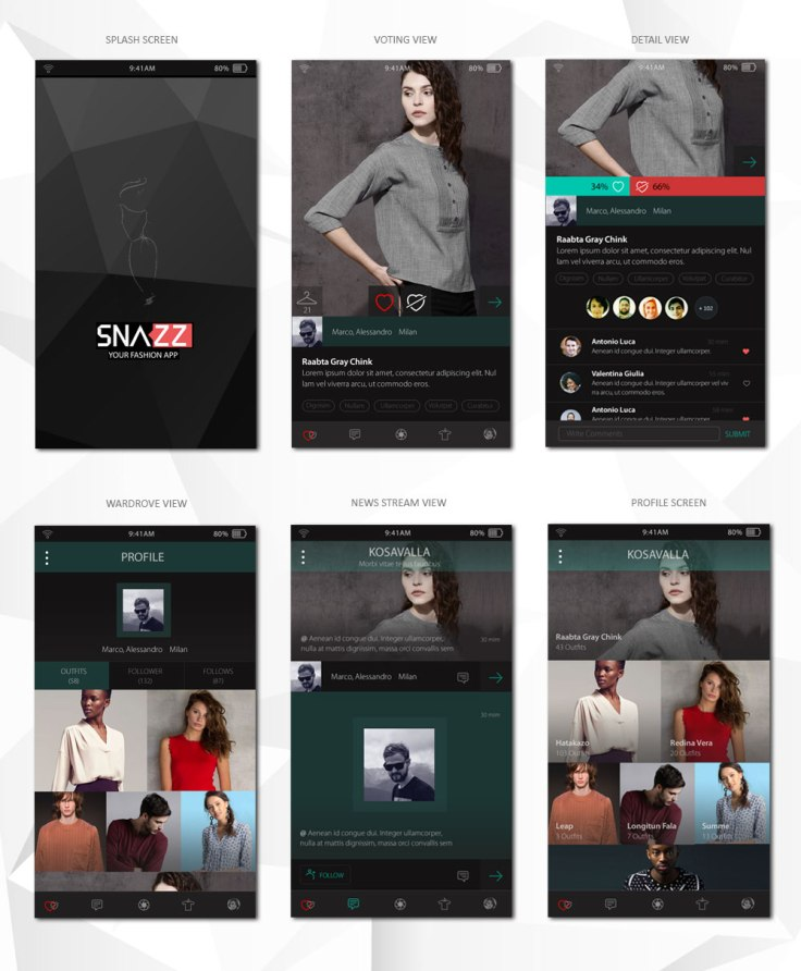 Mobile App Design for a Fashion Company